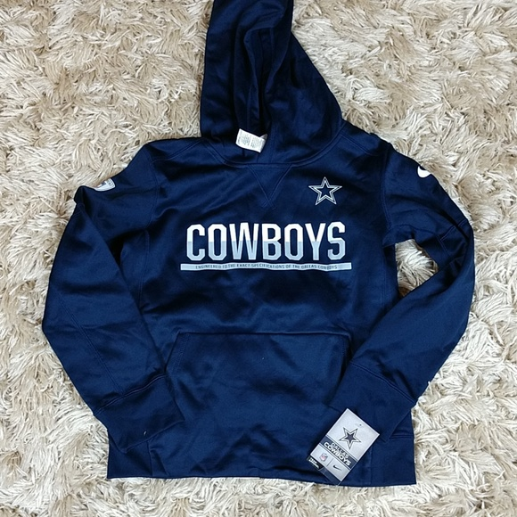 newest 2869a 16087 Youth Dallas Cowboys Therma Hoodie NWT